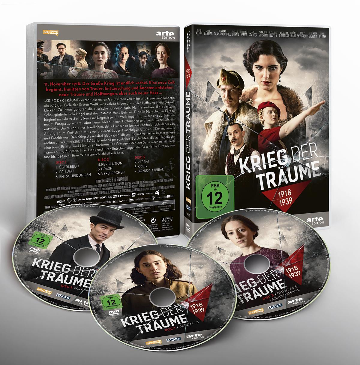 Krieg der Träume Clash Of Futures Looks Film TV Serie Dramaserie Gestaltung Plakat Keyartwork Arte ARD Affaire Populaire DVD