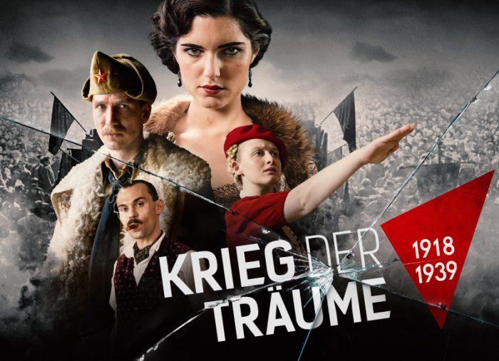 Krieg der Träume Clash Of Futures Looks Film TV Serie Dramaserie Gestaltung Plakat Keyartwork Arte ARD Affaire Populaire