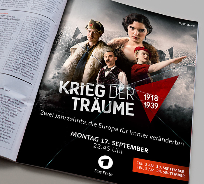 Affaiire-populaire-kreig-der-traeume-TV-Arte-Serie-Clash-Of-Futures-Grafik-Design-Berlin-Bianca-Domula-Anzeige