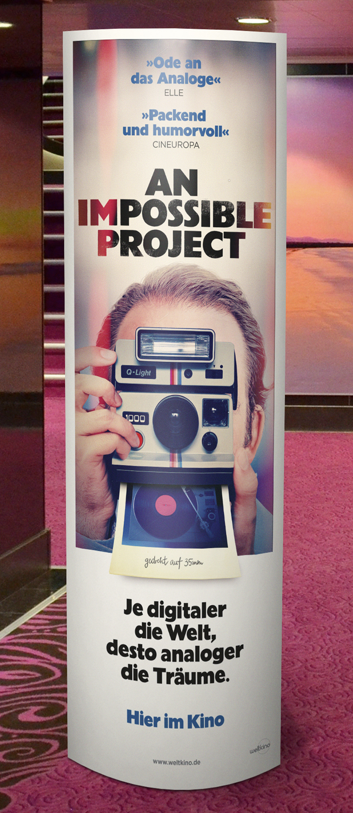 An Impossible Project Affaire Populaire Weltkino Film Movie Plakat Poster Grafik Design Berlin